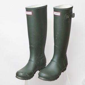 Hunter Original Tall Boot Matte Green Size 7